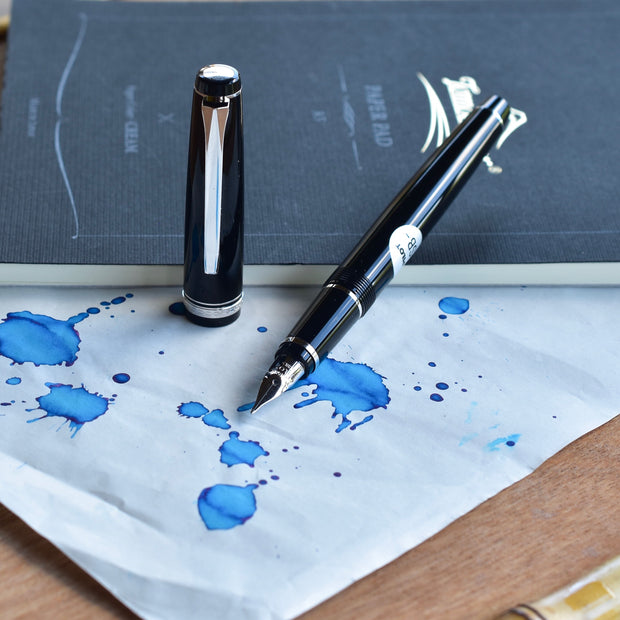 Pilot Falcon - Black body with a light material that polishes to a high gloss.