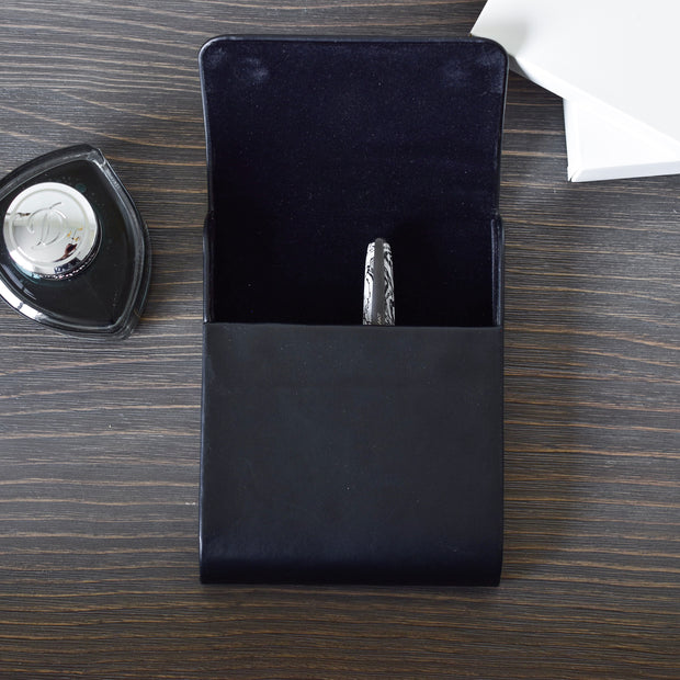 Pineider Black Leather Pen Case