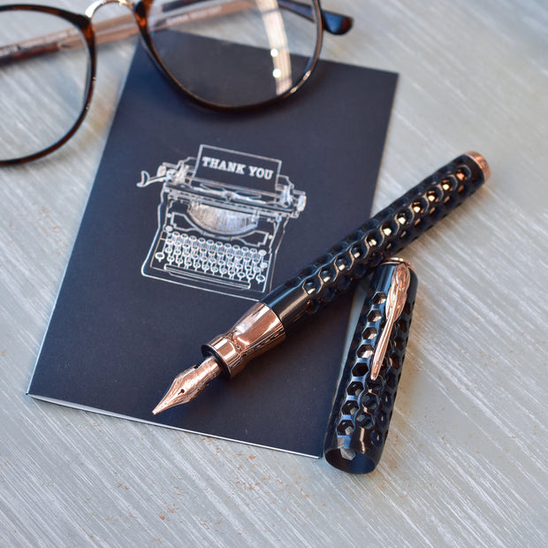 Pineider La Grande Bellezza Honeycomb Black Prince Fountain Pen