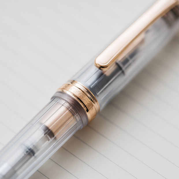 Platinum #3776 Century Nice Translucent Demonstrator Rose Gold Fountain Pen