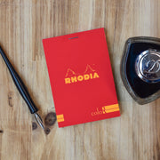 Rhodia No. 12 Premium Small Poppy Red Lined Notepad