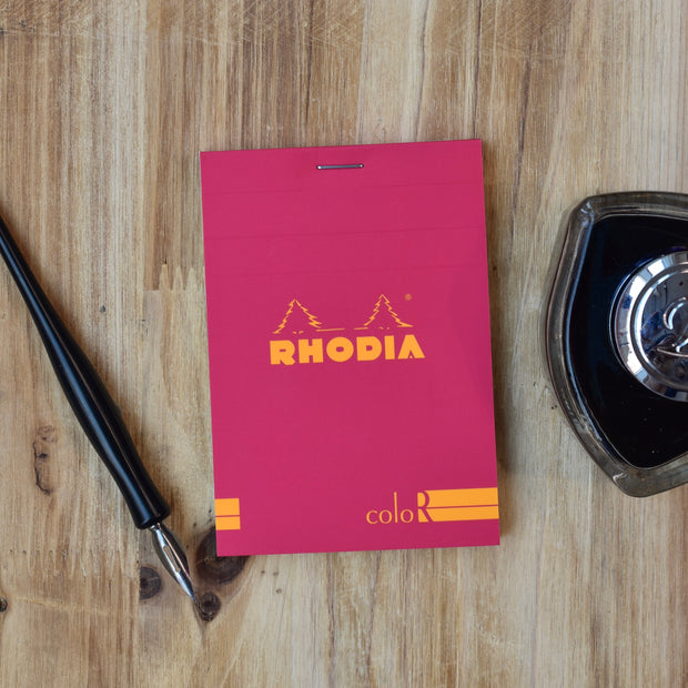 Rhodia No. 12 Premium Small Raspberry Lined Notepad