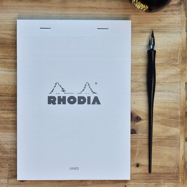 Rhodia No. 16 A5 Ice White Lined Notepad