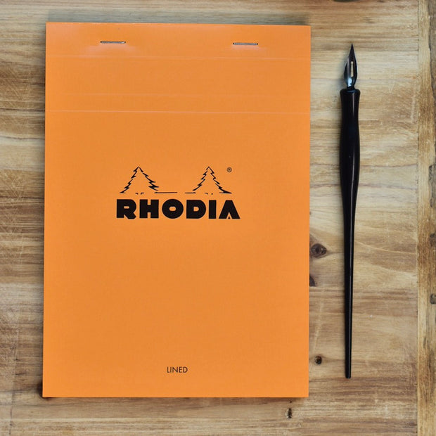 Rhodia No. 16 A5 Orange Lined Notepad