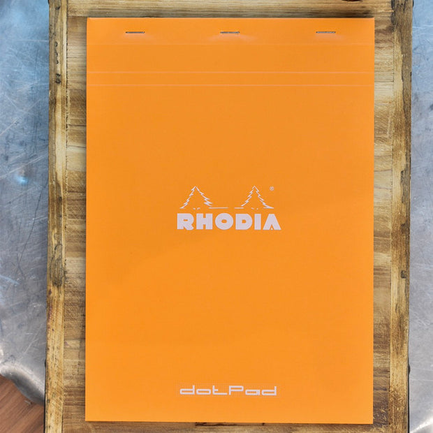 Rhodia No. 18 A4 Orange Dot Grid Notepad