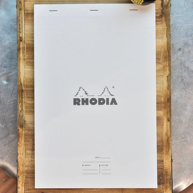 Rhodia No. 19 A4 Ice White Meeting Book Lined Notepad