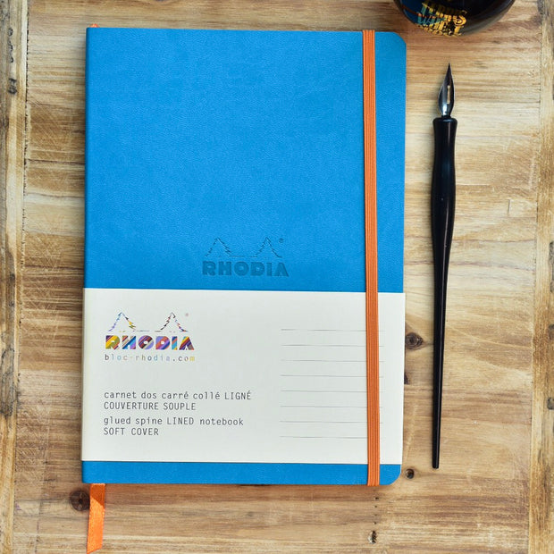 Rhodia Rhodiarama A5 Turquoise Lined Webnotebook