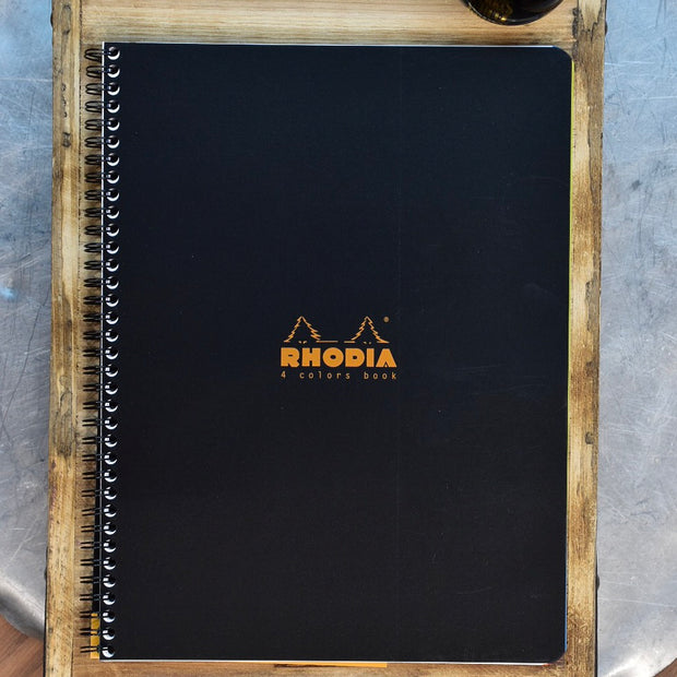 Rhodia 4 Color Black Wirebound Lined Notebook