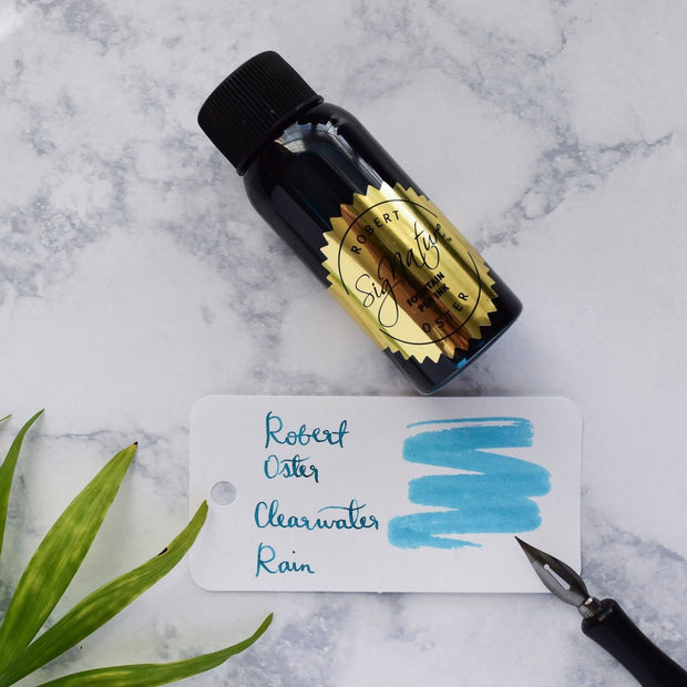 Robert Oster Clearwater Rain Turquoise Blue 50ml Fountain Pen Ink Bottle-Robert Oster-Truphae