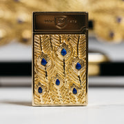 ST Dupont Haute Creation Peacock Lighter & Stand
