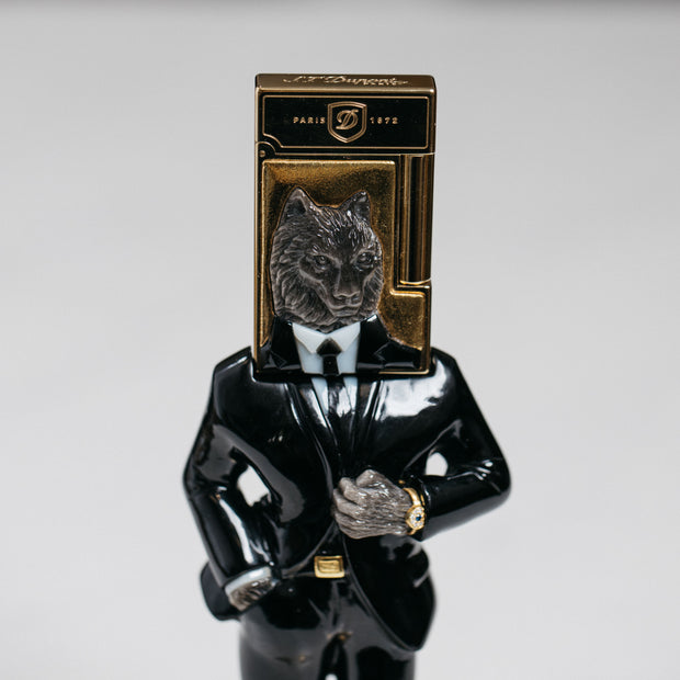 ST Dupont Stones of Fortune Investor Wolf Lighter & Sculpture