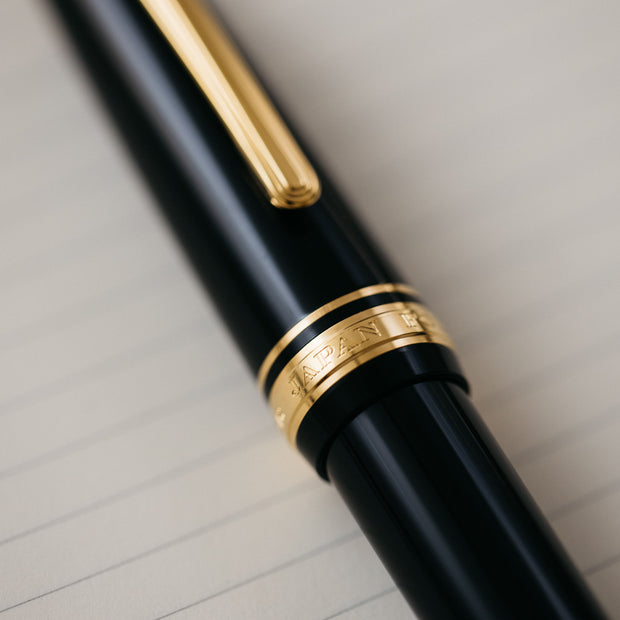 Sailor 1911L Black & Gold Fountain Pen