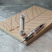 Sailor 1911L Clear & Silver Fountain Pen