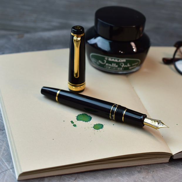 Sailor Professional Gear Realo Black & Gold Fountain Pen