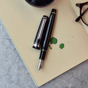 Sailor Professional Gear Slim Black & Silver Fountain Pen