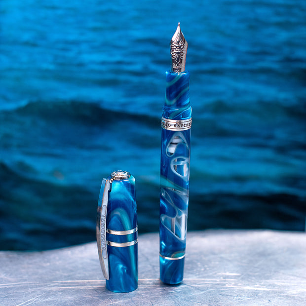 Visconti Homo Sapiens Blue Lagoon Fountain Pen