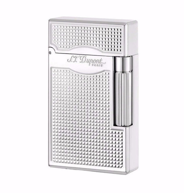 ST Dupont Le Grand Palladium Square Patterned Lighter ST023011-ST Dupont-Truphae