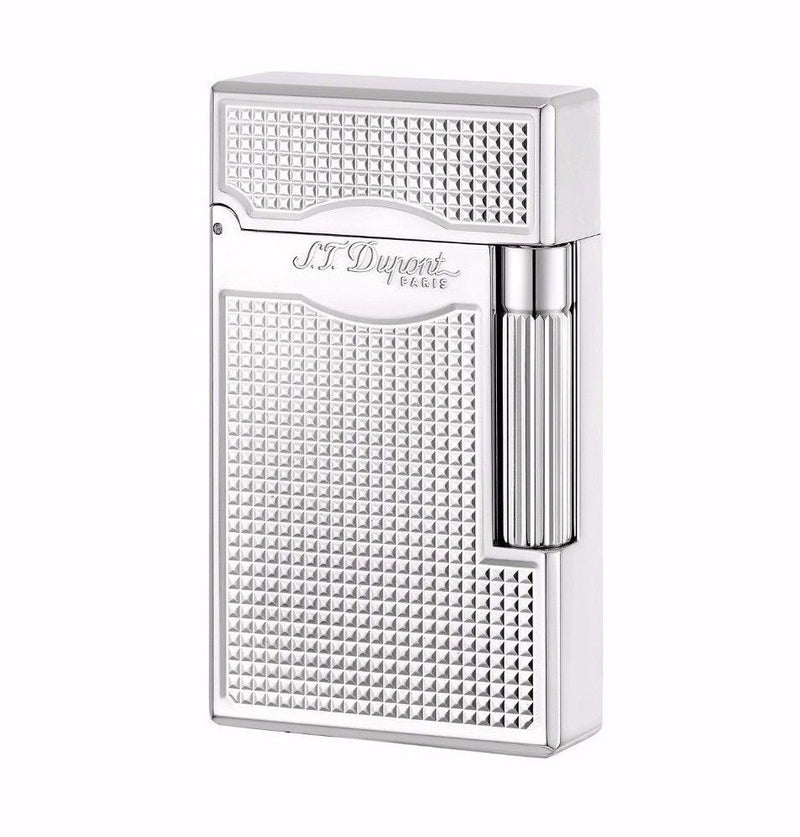 ST Dupont Le Grand Palladium Square Patterned Lighter ST023011
