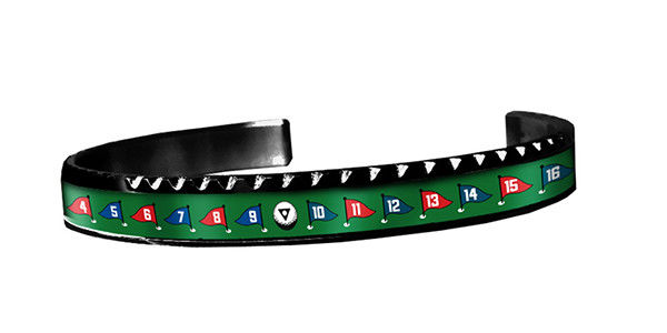 "Speedometer Official Black Steel & Green ""Golf"" Bangle Bracelet-Speedometer Official-Truphae"