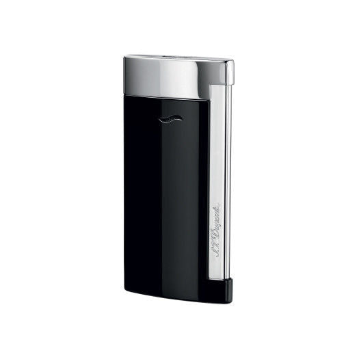 ST Dupont Slim 7 Black & Chrome Finish Lighter ST027700-ST Dupont-Truphae