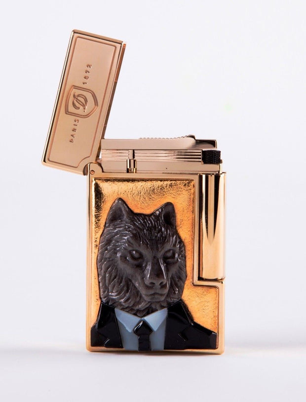 ST Dupont Stones of Fortune Investor Wolf Obsidian Limited Edition 288 Lighter-ST Dupont-Truphae