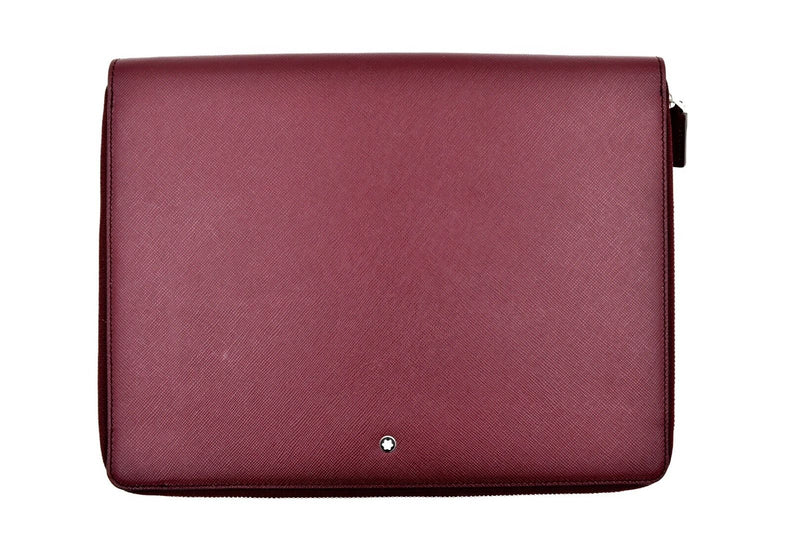 Montblanc Meisterstuck Selection Burgundy Bordeaux Tablet iPad Zip Case Holder