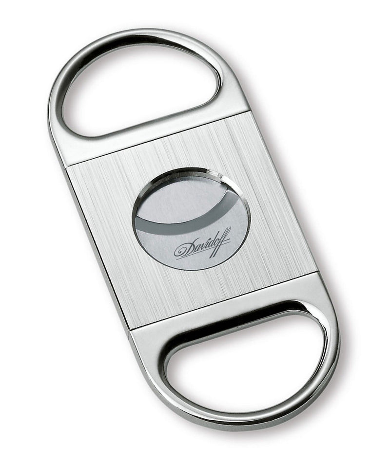 Davidoff Brushed Stainless Steel Double Blade Cigar Cutter 46941