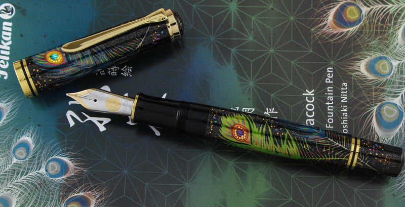 Pelikan M1000 Limited Edition of 111 Peacock Maki-e Fountain Pen