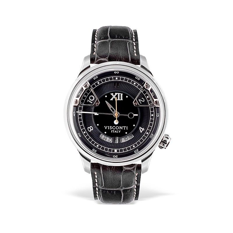 Visconti Italy Opera Stainless Steel with Black Dial 43.5mm Automatic Watch
