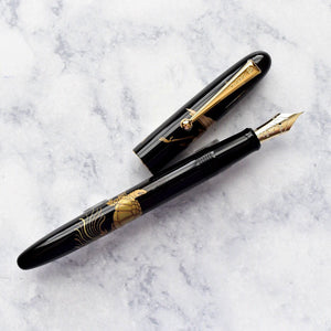 Namiki Nippon Art Crane & Turtle Maki-e Fountain Pen 14k Gold Nib