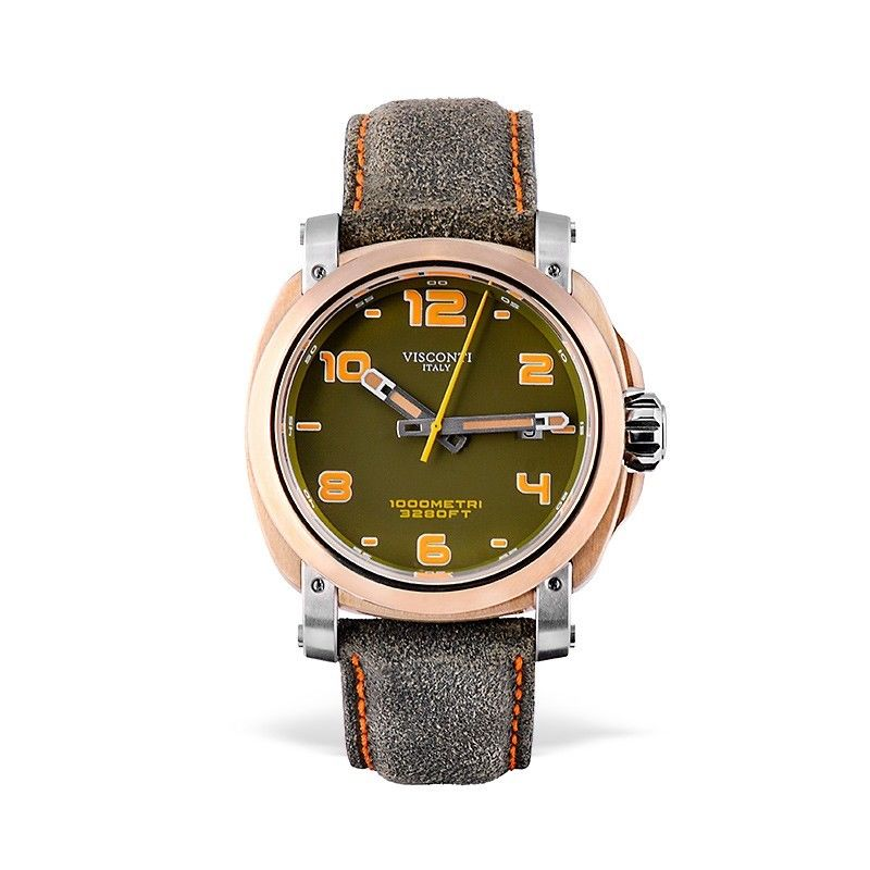 Visconti Italy Majorca Bronze & Stainless Steel Green Dial 43mm Automatic Watch