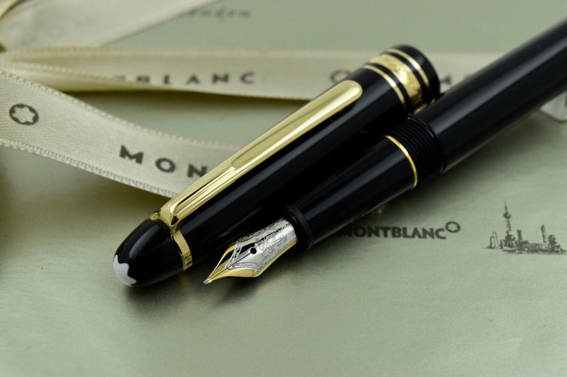 Montblanc Meisterstuck 145 Black & Gold Plated Chopin Fountain Pen 14k M Nib