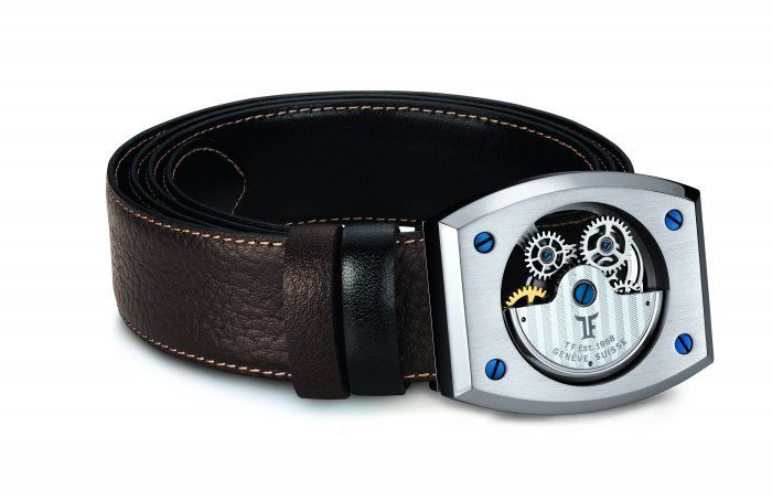 TF Est 1968 Automatic Model Steel Tonneau Shaped Watch Themed Belt Buckle