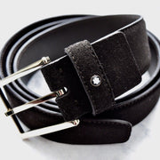 Montblanc Brown Suede with Gold Plated Buckle Belt 112959