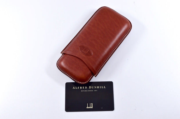 Alfred Dunhill Cognac Brown Triple Three Cigar Case