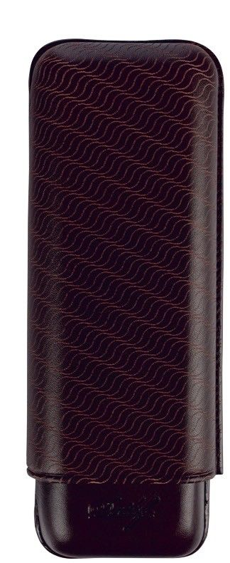 Davidoff Black Leather Enjoyment Pattern R-2 Double Two Cigar Case 106766