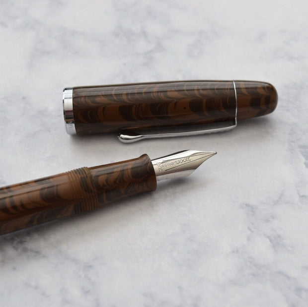 Noodlers Neponset Seven Pines Ebonite Fountain Pen-Noodlers-Truphae