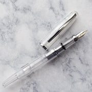 Platinum Cool Series Clear Demonstrator & Silver Trim Fountain Pen-Platinum-Truphae
