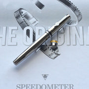 Speedometer Official Silver Steel with Black & Yellow Spare Ring Rollerball Pen-Speedometer Official-Truphae