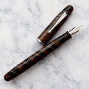 Noodlers Neponset Walnut Brown Ebonite Fountain Pen-Noodlers-Truphae