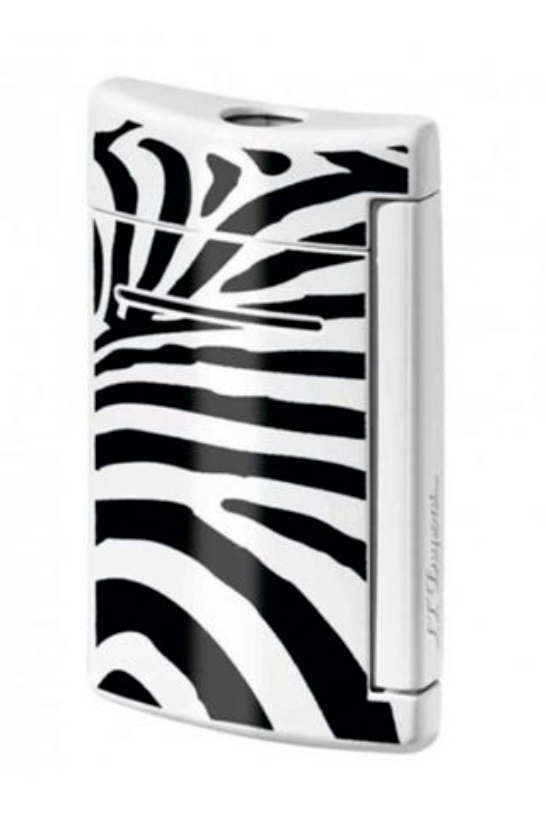 ST Dupont MiniJet Black & White Zebra Pattern Finish Lighter ST010072-ST Dupont-Truphae