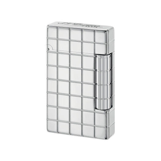 ST Dupont Initial White Bronze Squares Finish Lighter ST020800-ST Dupont-Truphae