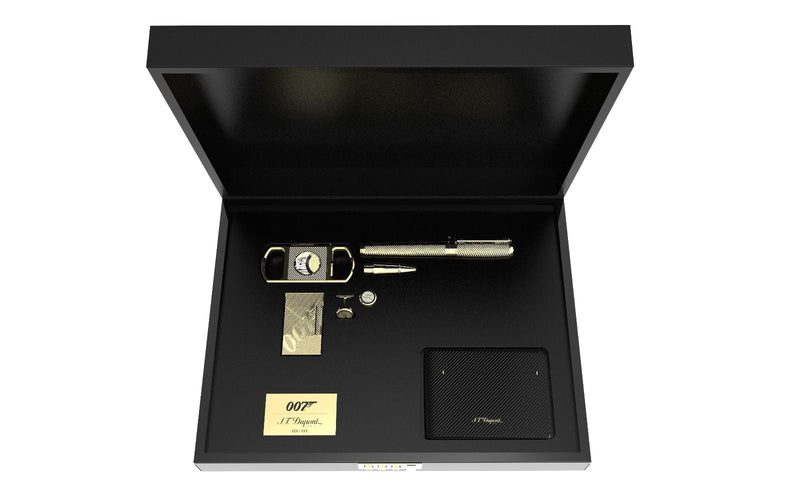 ST Dupont Limited Edition James Bond 007 Yellow Gold Lighter & Pen Collector Kit