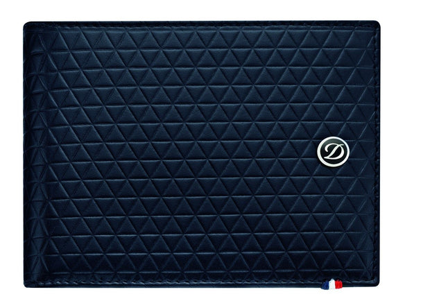 ST Dupont Fire Head Blue Soft Diamond Leather Wallet ST180092-ST Dupont-Truphae