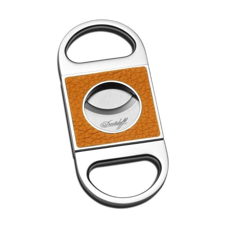 Davidoff Saffron Leather Double Blade Cigar Cutter 101750