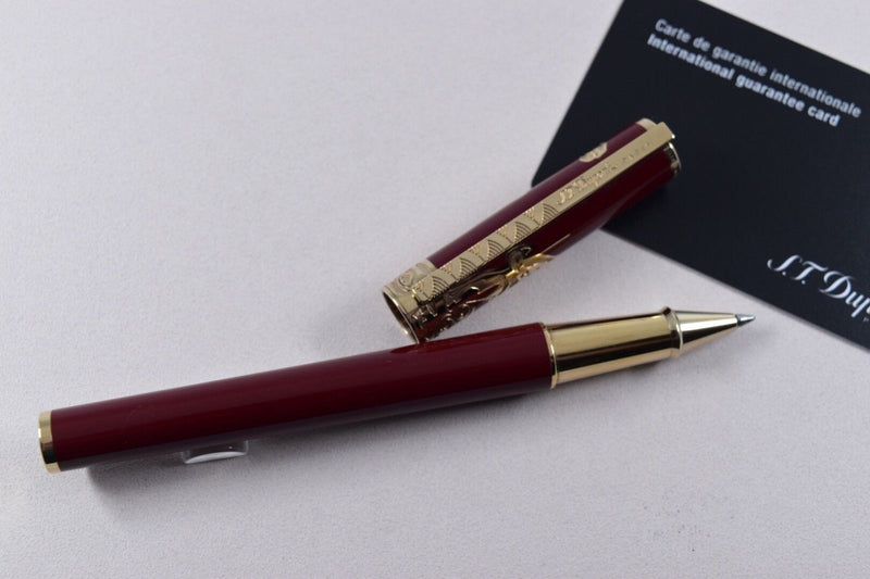 ST Dupont Limited Edition Year of the Goat Red Lacquer Rollerball Pen ST142197