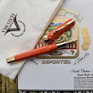 Visconti Limited Edition 40 Opera Club Bright Orange Gold Trim Fountain Pen