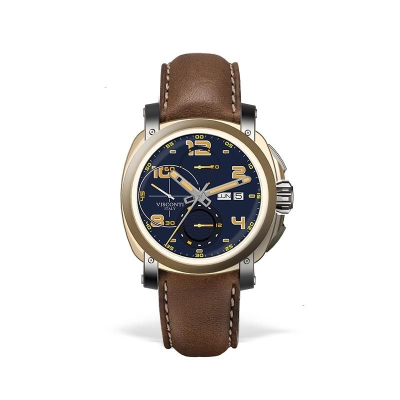 Visconti Majorca Chronograph Bronze & Stainless Steel Blue Dial Automatic Watch