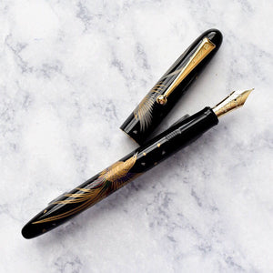 Namiki Nippon Art Golden Pheasant Maki-e Fountain Pen 14k Gold Nib