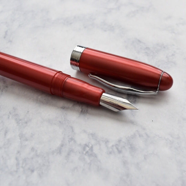 Noodlers Ahab Mars Pearl Red Fountain Pen Flex Nib-Noodlers-Truphae